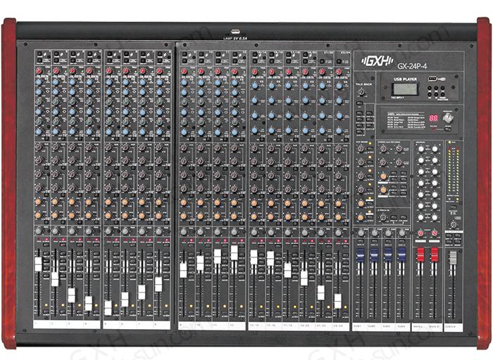 24路4编组调音台GX-24P-4