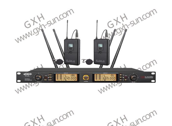 一拖二无线话筒(领夹)真分集GX-312UH